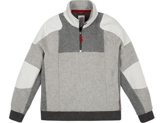 Topo Designs Global Sweat Zip 1/4 Homme, gray